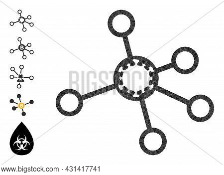 Triangle Virus Nodes Polygonal 2d Illustration, And Similar Icons. Virus Nodes Is Filled With Triang