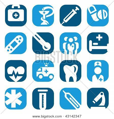 Color Medical Icon Set