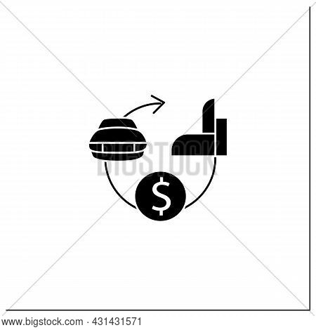Assets Expected Life Cycle Glyph Icon. Stages Series Assets Management. Estimated Useful Life, Total