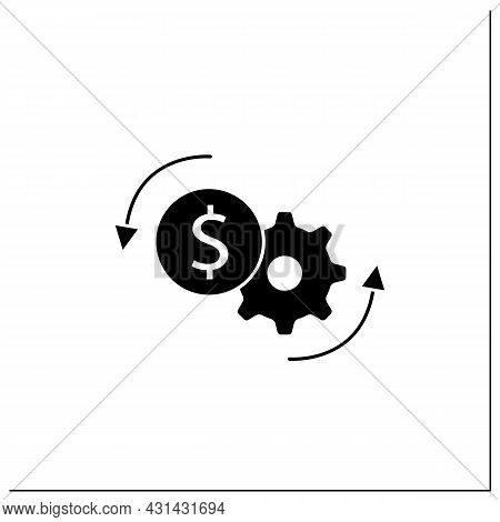 Price Optimization Glyph Icon. Perfect Buying Cost. Price Reduction. Best Buying Conditions. Money S
