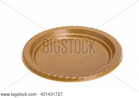 Disposable Tableware Fastfood Accessory Isolated On White Background