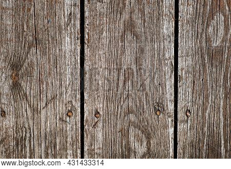 Pattern Of The Old Wooden Planks Background