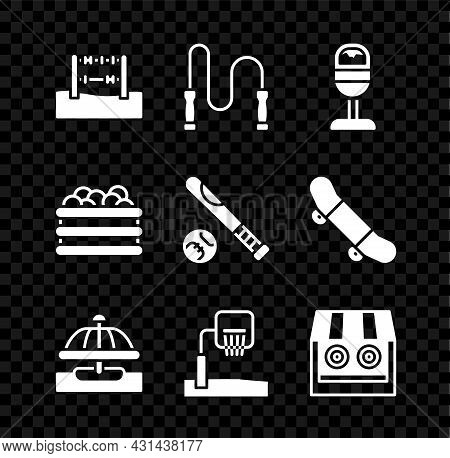 Set Abacus, Jump Rope, Trash Can, Attraction Carousel, Basketball Backboard, Shooting Gallery, Pool