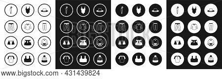 Set Man Hat, Sweater, Pants, Umbrella, Leggings, Swimsuit, Hoodie And Men Underpants Icon. Vector