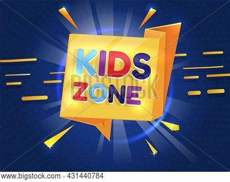 Children Room Banner. Kids Education Playground Label, Preschool Entertainment Emblem. Childish Fun