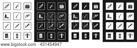 Set Military Ammunition Box, Revolver Gun, Gun Magazine And Bullets, Sniper Optical Sight, Small Rev