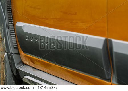 Moscow, Russia - May 08, 2021 Renault Duster Second Generation Details View. Exterior Close Up View
