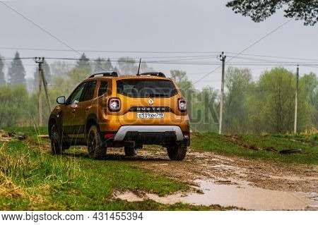 Moscow, Russia - May 08, 2021 Renault Duster Second Generation. Compact Suv Car Also Called Dacia Du