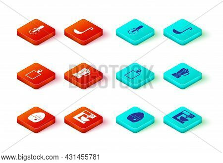 Set Kitchen Timer, Electric Mixer, Cutting Board, Blender, Ladle And Pizza Knife Icon. Vector