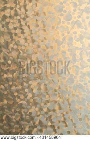 Sunlight Shines Through The Patterned Window Pane. Texture.