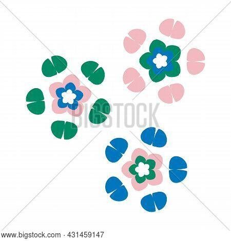 Whimsical Cute Flower Doodle Shape Motif. Modern Trendy Minimalist Style Icon Clip Art. Fun Unusual