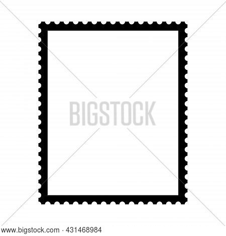 Postage Stamp Template. Vector Illustration On White Background