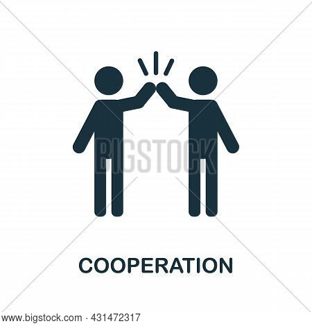 Cooperation Flat Icon. Colored Sign From Positive Attitude Collection. Creative Cooperation Icon Ill