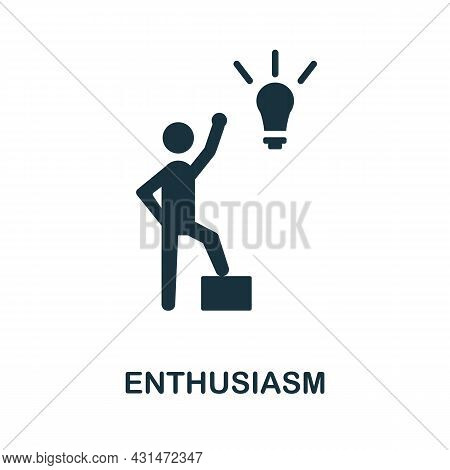 Enthusiasm Flat Icon. Colored Sign From Positive Attitude Collection. Creative Enthusiasm Icon Illus