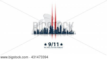 11 September- Illustration For Patriot Day Usa Poster Or Banner.