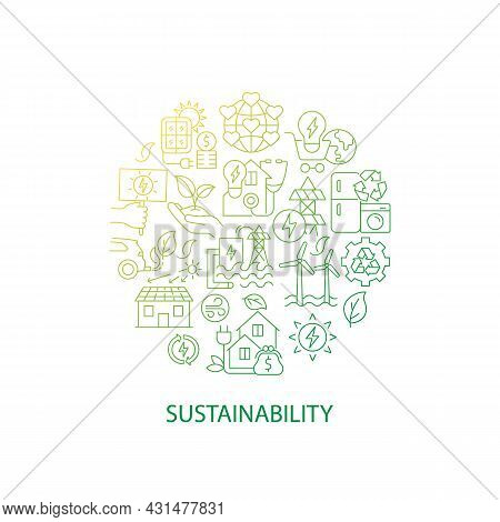 Renewable Energy Abstract Gradient Linear Concept Layout With Headline. World Ecology. Sustainabilit