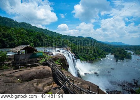 Famous Athirapally Waterfalls In India , Athirapally Waterfalls Kerala India, Beautiful Waterfall La