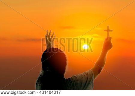 Woman Praying To God
