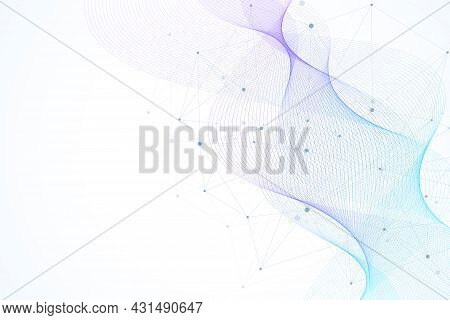 Scientific Molecule Background Dna Double Helix Illustration With Shallow Depth Of Field. Mysterious