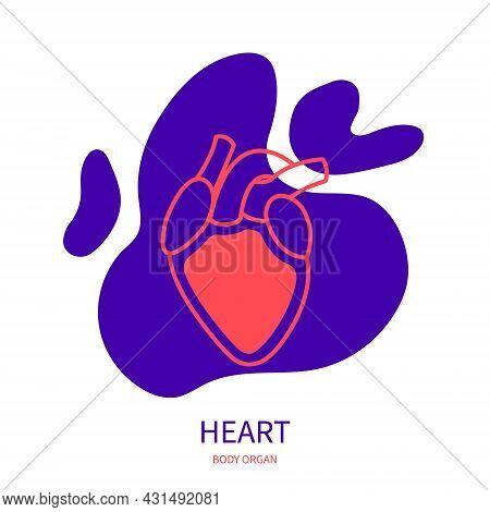 Heart Cardiovascular System Body Organ Outline Icon
