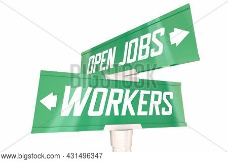 Connecting Workers to Open Jobs Bridge Gap Puzzle Pieces Employee Shortage 3d Illustration