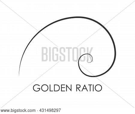 Golden Ratio Graphic Symbol. Geometric Shape. Golden Proportion Of  Architecture. Fibonacci Number S