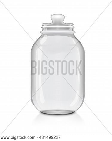 3d Big Transpatent Glass Jar With Glass Cover