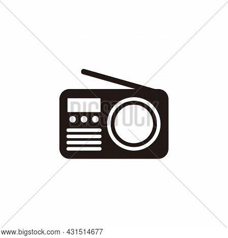 Simple Radio Icon Illustration Design, Radio Symbol Template Vector