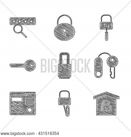 Set Lock, Picks For Lock Picking, House Under Protection, With Key, Intercom System, Key, And Passwo