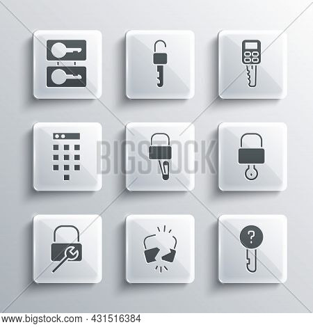 Set Broken Or Cracked Lock, Undefined Key, Lock And, Picks For Picking, Repair, Password Protection,