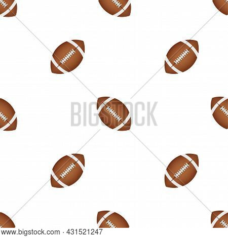 American Football Ball Pattern On A Black Background. Vector Stock Illustration.