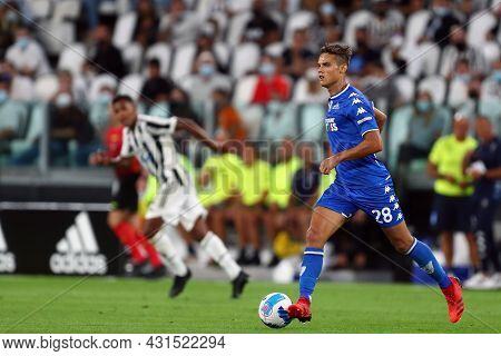Torino, Italy. 28 August 2021. Samuele Ricci Of Empoli Fc  Controls The Ball During The Serie A Matc