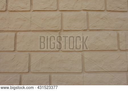 Common Bond Wall Made Of Pale Yellow Brick Veneers