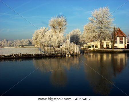 Winter in einer Landschaft