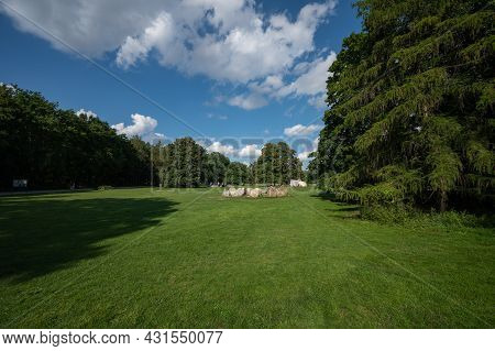 Berlin, Germany - August 11 , 2021 - View Of The Goethe Monument In Berlin In The Park