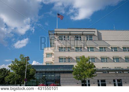 Berlin, Germany - August 11 , 2021 - View Of The U.s. Embassy In Berlin.