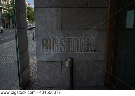 Berlin, Germany - August 11 , 2021 - View Of Streets In The Area Of The Reich Parliament Building In