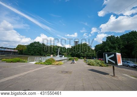Berlin, Germany - August 11 , 2021 - Around The House Of World Cultures In Berlin