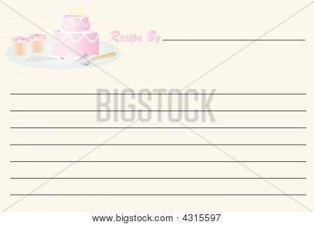 Recipe Card - Birthday Cake