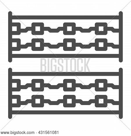 Simple Printed Circuit Boards Layout Line Icon, Electronics Concept, Simple Pcb Vector Sign On White