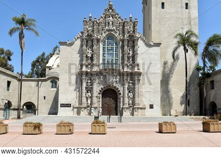 SAN DIEGO, CALIFORNIA - 25 AUG 2021: The Museum of Us is a cultural anthropology museum that explores the human experience from multicultural perspectives