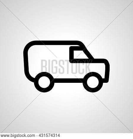 Van Line Icon. Bank Van Isolated Simple Vector Icon