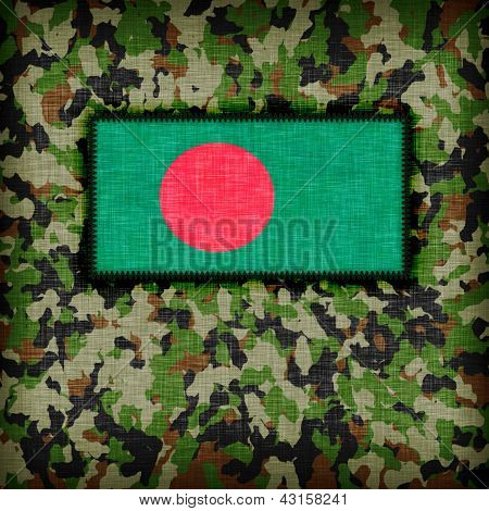 Amy camouflage uniform with flag on it Bangladesh poster