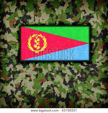 Amy camouflage uniform with flag on it Eritrea poster
