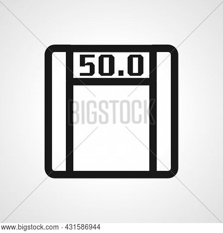 Electronic Fitness Scales Icon. Electronic Fitness Scales Isolated Simple Vector Line Icon.