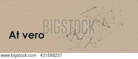Future Social Technical And Microbiology Texture. Vector Connection Shapes On Banner. Design For Any