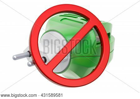 Fumigator With Prohibition Sign. 3d Rendering Isolated On White Background