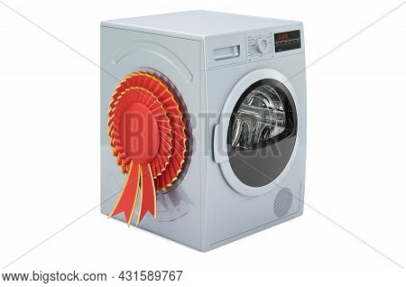 Tumble Dryer With Best Choice Badge, 3d Rendering Isolated On White Background