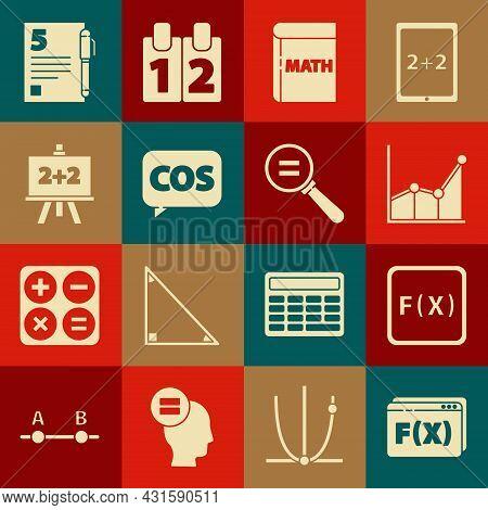 Set Function Mathematical Symbol, Graph, Schedule, Chart, Diagram, Book With Word Mathematics, Mathe