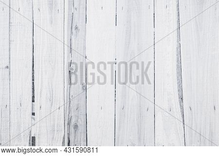 Old Grunge Wood Plank Texture Background. Vintage White Wooden Board Wall Have Antique Cracking Styl